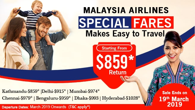 Special deal with cheap flight deal, Singapore airline.