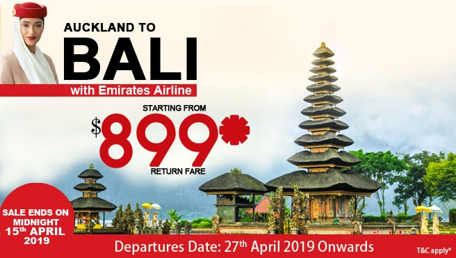 Emirates airline special Bali