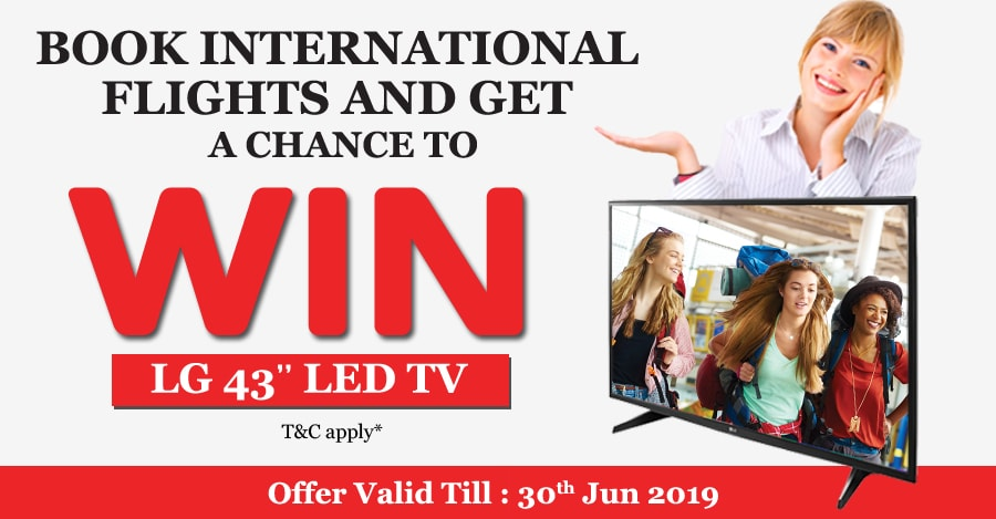 book international flight and get a chance to win LG